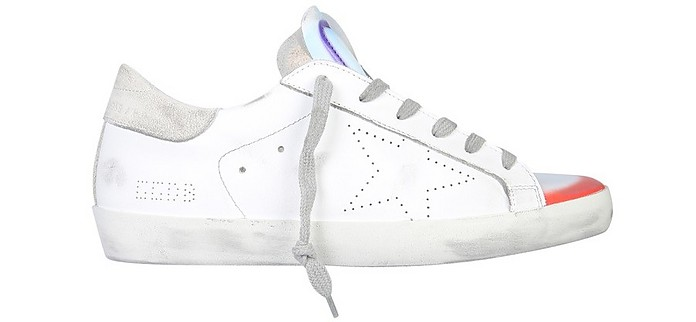 Superstar Skate Peace & Love Distressed Leather Sneakers - Golden Goose / ゴールデングース