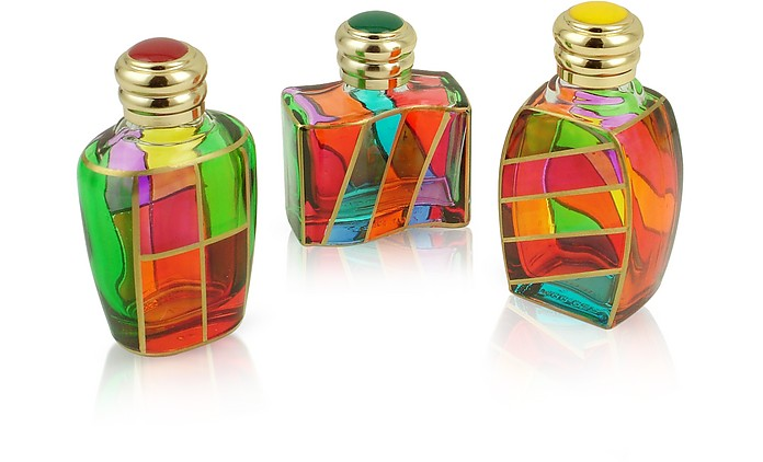 Goldoni - Hand Decorated Murano Glass Enamel-Capped Perfume Bottles - Due Zeta