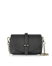 Caviar Small Black Leather Shoulder Bag - Le Parmentier