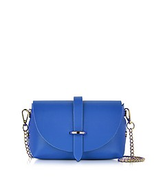 Caviar Small Blue Leather Shoulder Bag - Le Parmentier