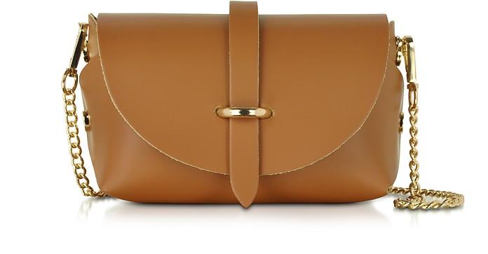 Caviar Small Cognac Leather Shoulder Bag - Le Parmentier