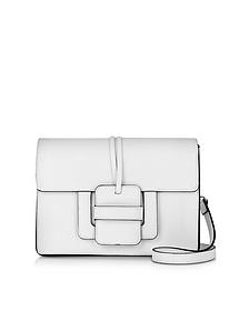 White Leather Shoulder Bag - Le Parmentier