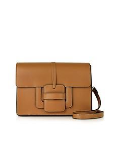Cognac Leather Shoulder Bag - Le Parmentier