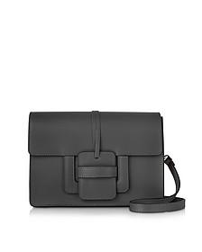 Black Leather Shoulder Bag - Le Parmentier