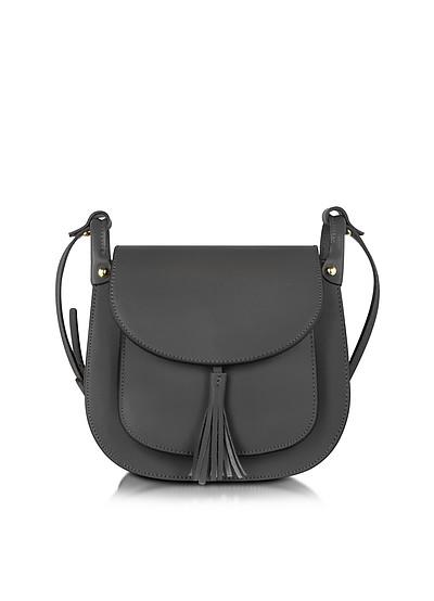 Buttercup Black Leather Crossbody Bag - Le Parmentier