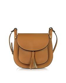 Buttercup Cognac Leather Crossbody Bag - Le Parmentier