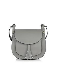 Buttercup Gray Leather Crossbody Bag - Le Parmentier