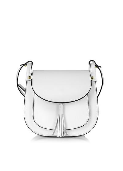 Buttercup White Leather Crossbody Bag - Le Parmentier