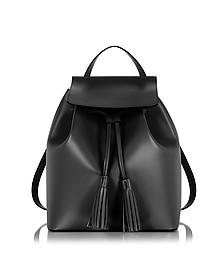 Black Leather Backpack - Le Parmentier