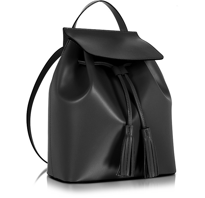3df8f0eea2482 Black Leather Backpack - Le Parmentier. £210.00 Actual transaction amount