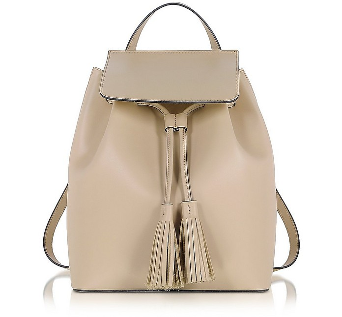 Nude Leather Backpack - Le Parmentier
