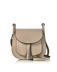 Buttercup Nude Leather Shoulder Bag w/Tassel - Le Parmentier
