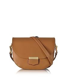 Clio Smooth Leather Flap Shoulder Bag - Le Parmentier