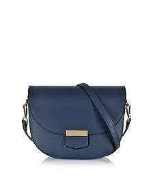 Clio Smooth Leather Shoulder Bag w/Flap - Le Parmentier