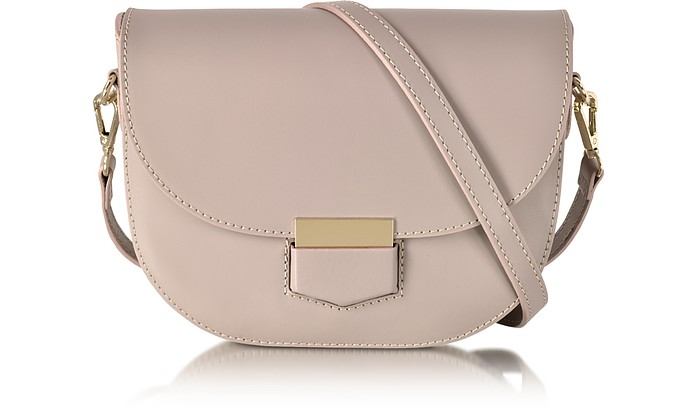 Clio Smooth Leather Shoulder Bag w/Flap - Le Parmentier