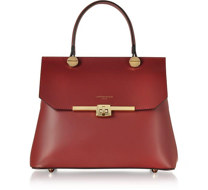 Atlanta Top Handle Satchel Bag w/Shoulder Strap - Le Parmentier