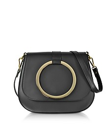 Black Smooth Leather Shoulder Bag - Le Parmentier