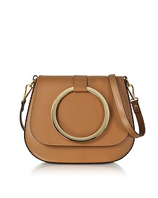 Cognac Smooth Leather Shoulder Bag - Le Parmentier