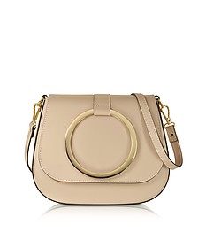 Nude Smooth Leather Shoulder Bag - Le Parmentier
