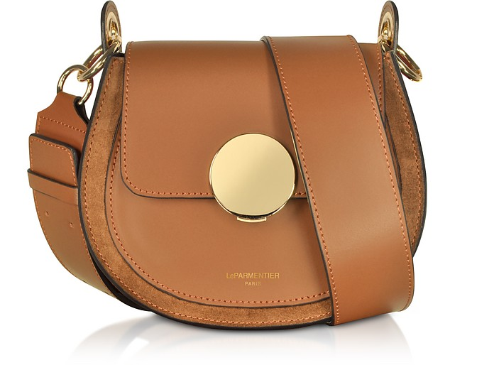 Yucca Suede and Leather Shoulder Bag - Le Parmentier