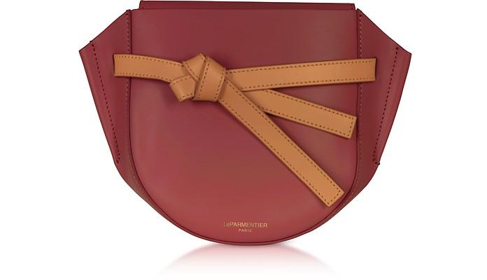 Peyote Smooth Leather Shoulder bag w/Bow - Le Parmentier