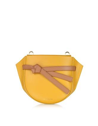 a026820163400 Peyote Smooth Leather Shoulder bag w Bow - Le Parmentier