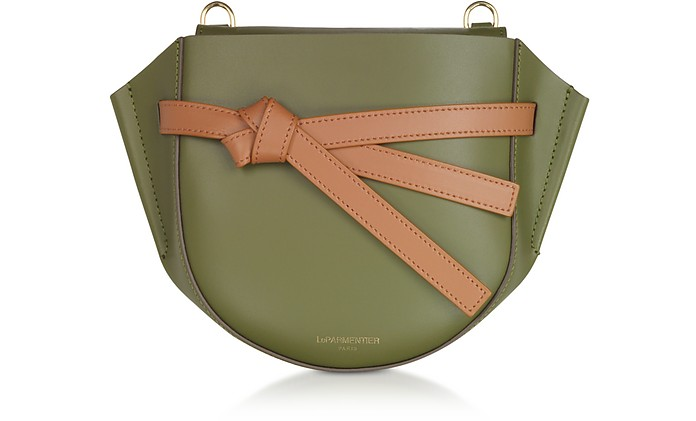 Peyote Smooth Leather Shoulder bag w/Bow - Le Parmentier