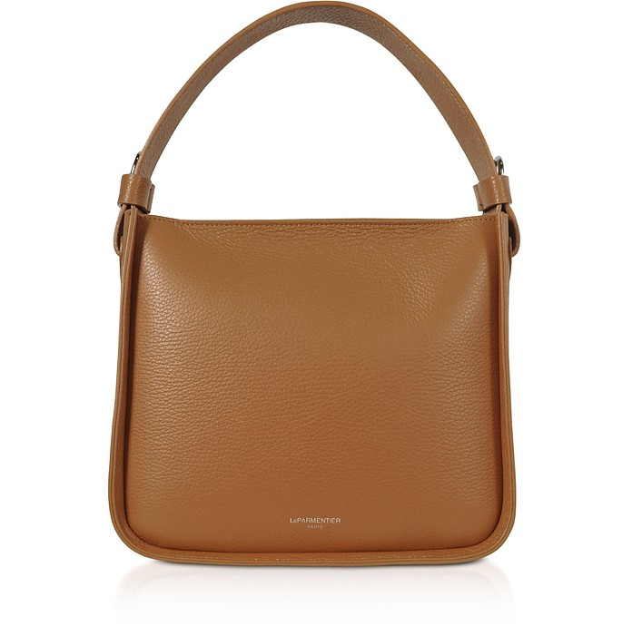 Duplo Medium Hammered Leather Top Handle bag - Le Parmentier