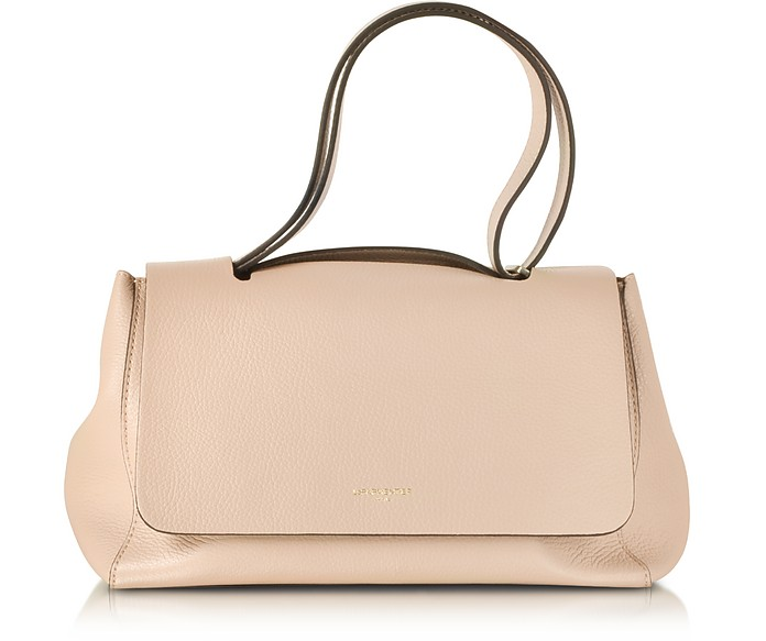 Ciprea Hammered Leather Satchel Bag - Le Parmentier