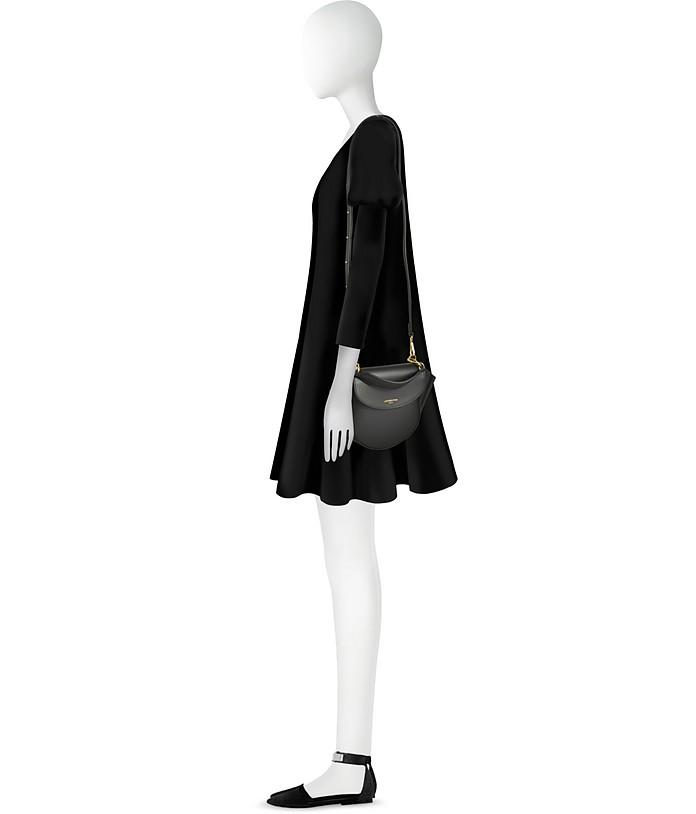 Astorya Leather Mini Bag w/Shoulder Strap Le Parmentier Caviar Black iCMyqMq