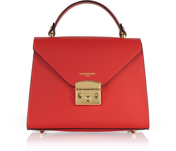Peggy Leather Top Handle Satchel Bag - Le Parmentier