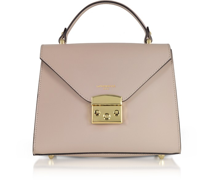 Peggy Leather Top Handle Satchel Bag - Le Parmentier