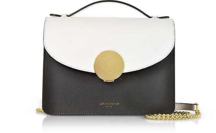 New Ondina Color Block Flap Top Leather Satchel Bag - Le Parmentier