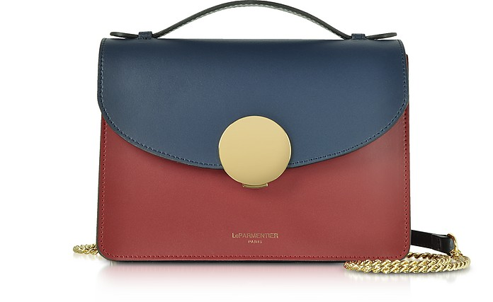 Ondina Color Block Flap Top Leather Satchel Bag - Le Parmentier