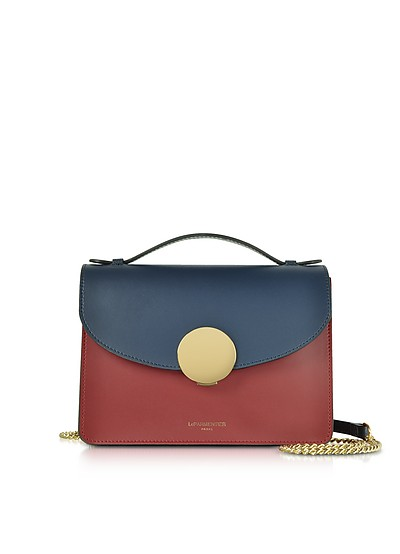 New Ondina Color Block Flap Top Leather Satchel Bag - Le Parmentier