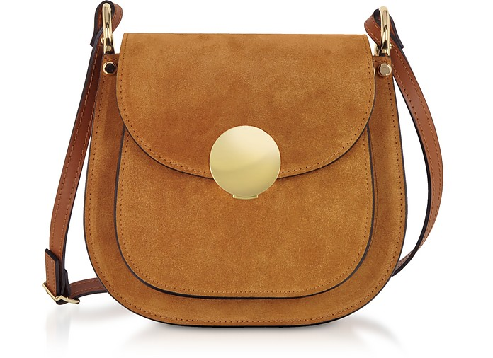 Agave Suede and Smooth Leather Shoulder Bag - Le Parmentier