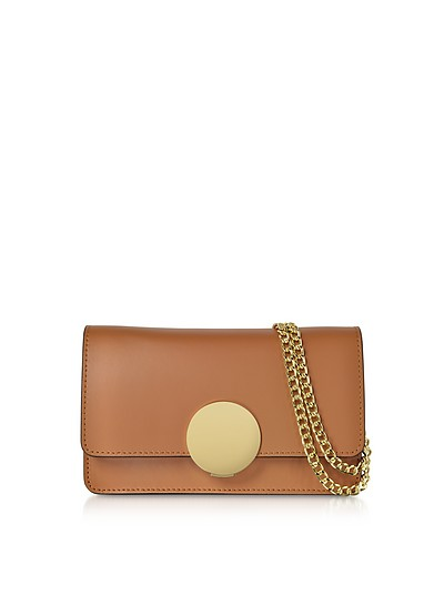 New Ondina Leather and Suede Crossbody Clutch - Le Parmentier