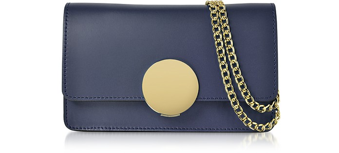 New Ondina Nano Leather and Suede Crossbody Clutch - Le Parmentier