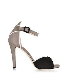 Color Block Suede Sandal
