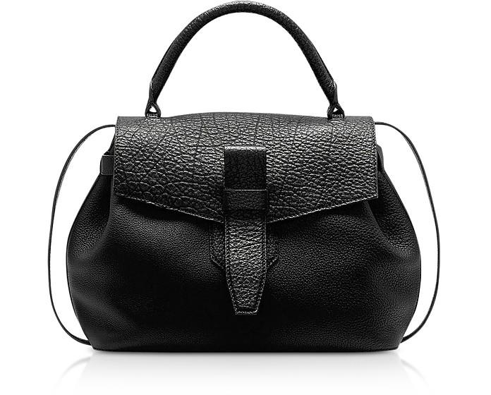 Charlie Medium Grained Leather Handbag - Lancel