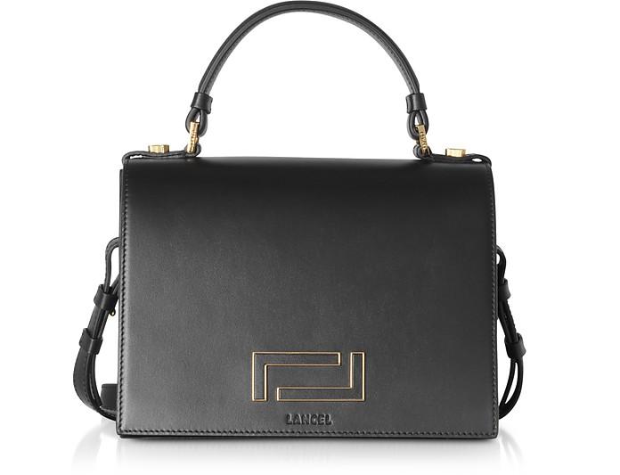 Pia Black Leather Top Handle Bag - Lancel