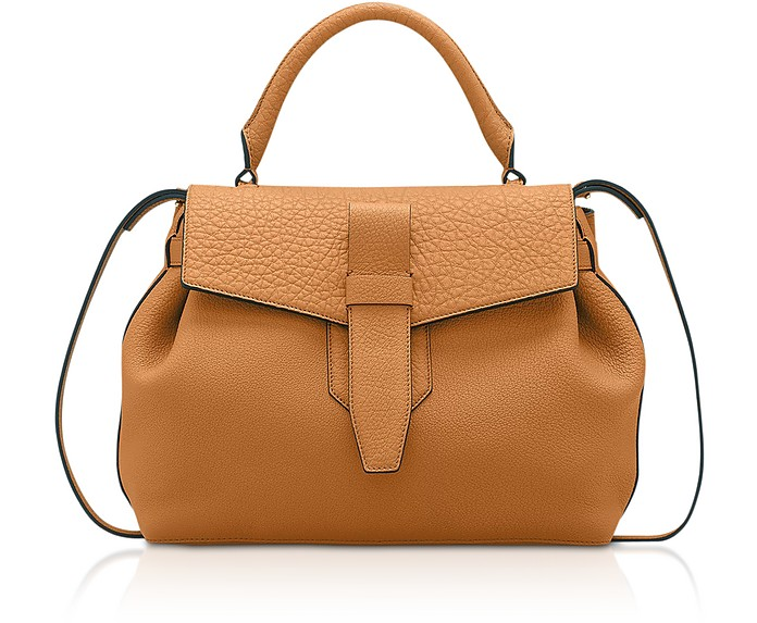 Charlie Medium Grained Leather Handbag - Lancel