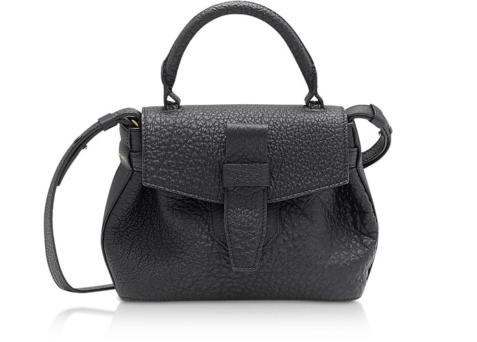 Charlie Nano Black Full-Grain Satchel Bag - Lancel