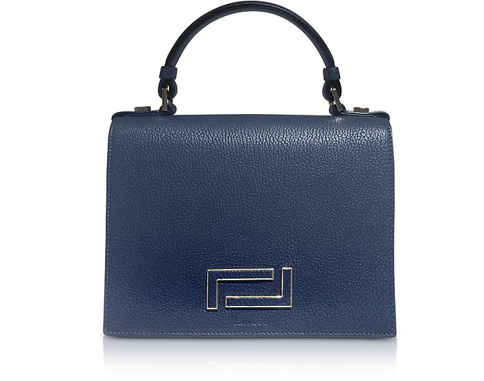 Pia Grained Leather Flap Satchel Bag - Lancel