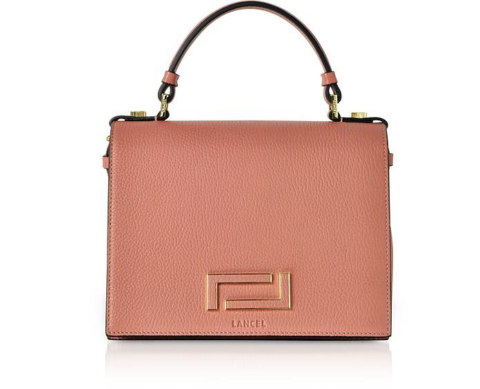 Pia Grained Leather Flap Satchel Bag - Lancel / ランセル