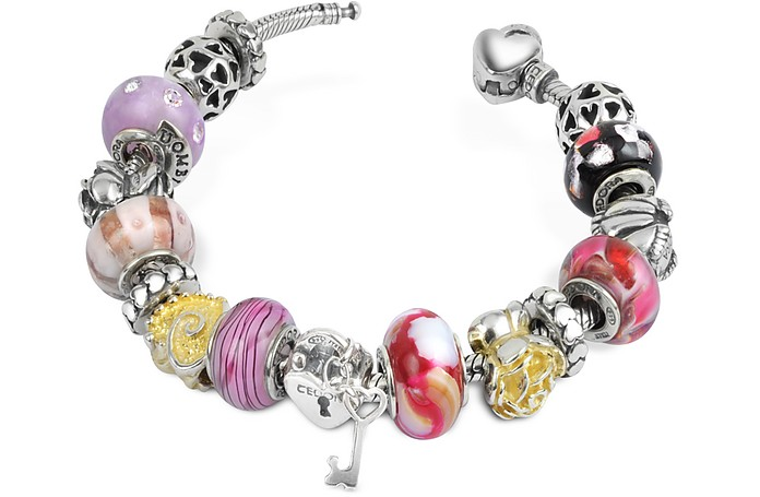 Amore e passione - Romantisches Armband aus Sterling Silber - Tedora