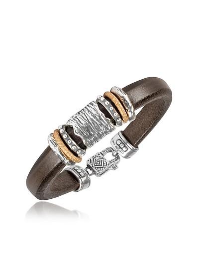 Armband aus Leder und Silber - Tedora