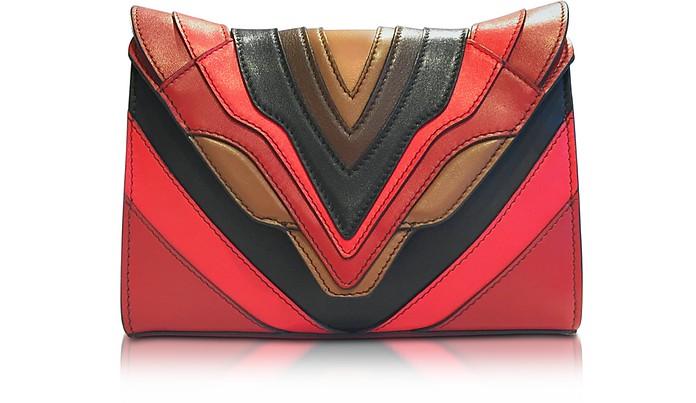 Felina Mignon Burning Lines Multicolor Leather Crossbody - Elena Ghisellini