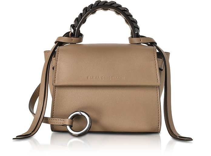 Nut Leather Micro Angel Top Handle Satchel Bag - Elena Ghisellini