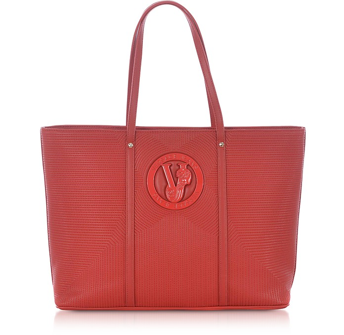 M Dis. 2 Red Polyester Tote Bag - Versace Jeans
